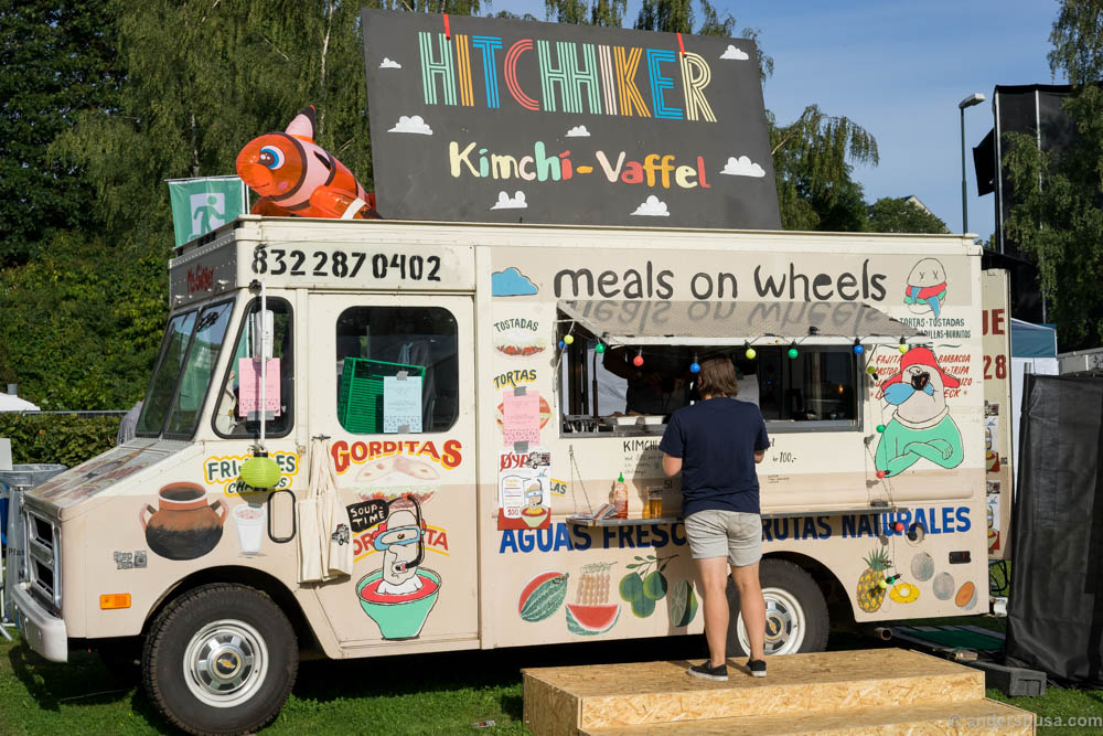 Hitchhiker is in place with their Meals on Wheels food truck