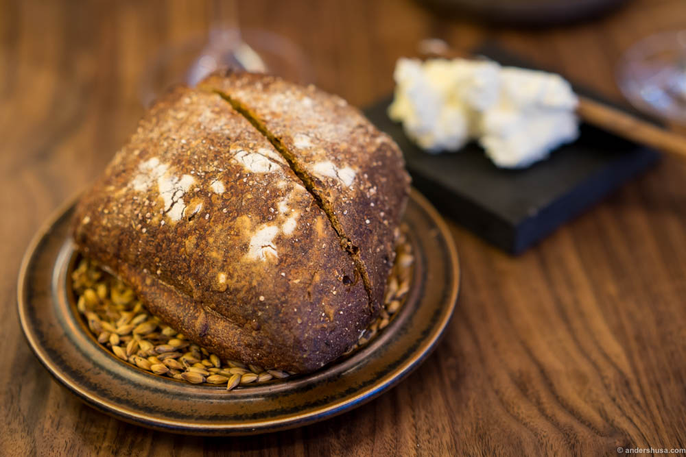 The bread serving at Arakataka. A malt and fennel bread with whipped butter. This combination is lethal. So good!