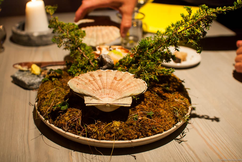 The scallops serving is a signature dish of Magnus Nilsson. We were excited to see what Riccardo had decided to do with it.