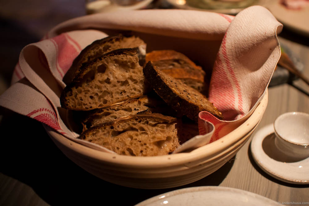 Sourdough and rye bread. The sourdough is made by Magnus in his grandmother's old kneading trough