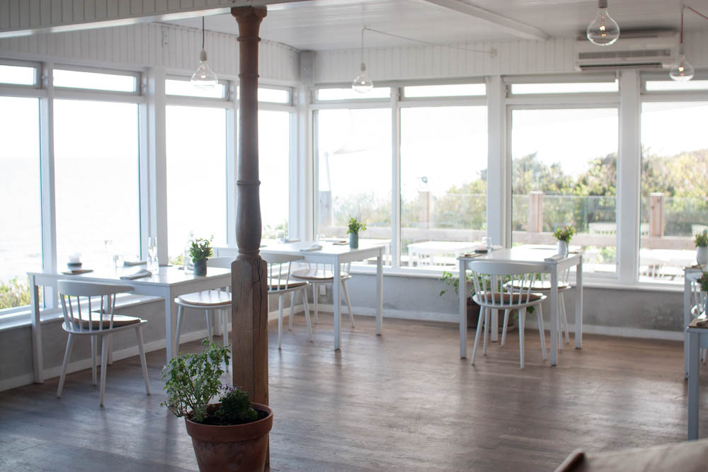 "The dining room with a stunning sea view. Where we were about to experience the ""Bornholmerbank"" menu."