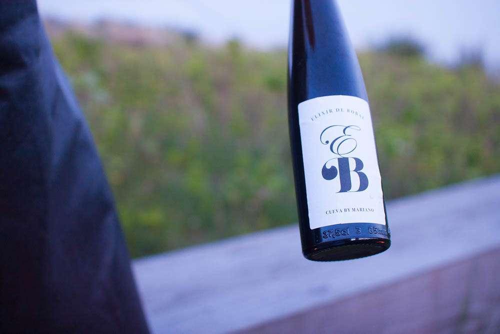 The dessert wine pairing; Elixir De Bobal Cueva Mariano