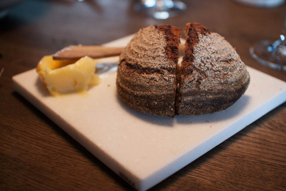 The bread serving. Rye and spelt bread. Butter from Røros. Simple.