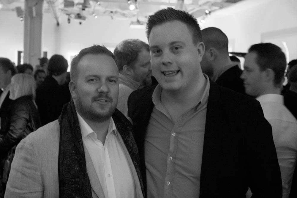 Chef and restaurant critic André Blomberg-Nygård and Arve Podsada Krognes – head of PR at Noma