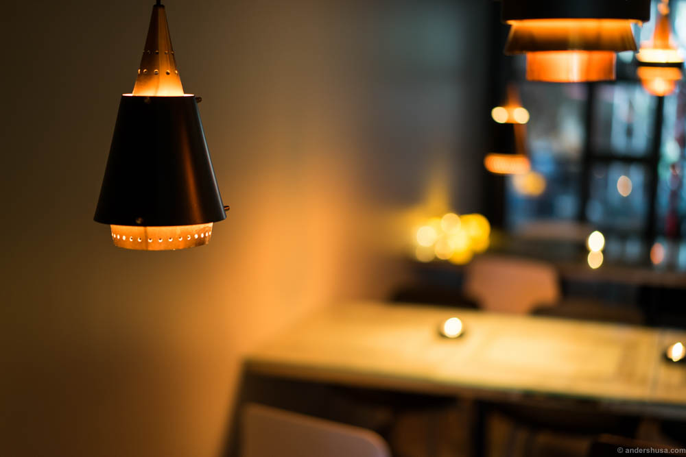 The innermost room has a different atmosphere with recessed lighting and is more suitable for drinks