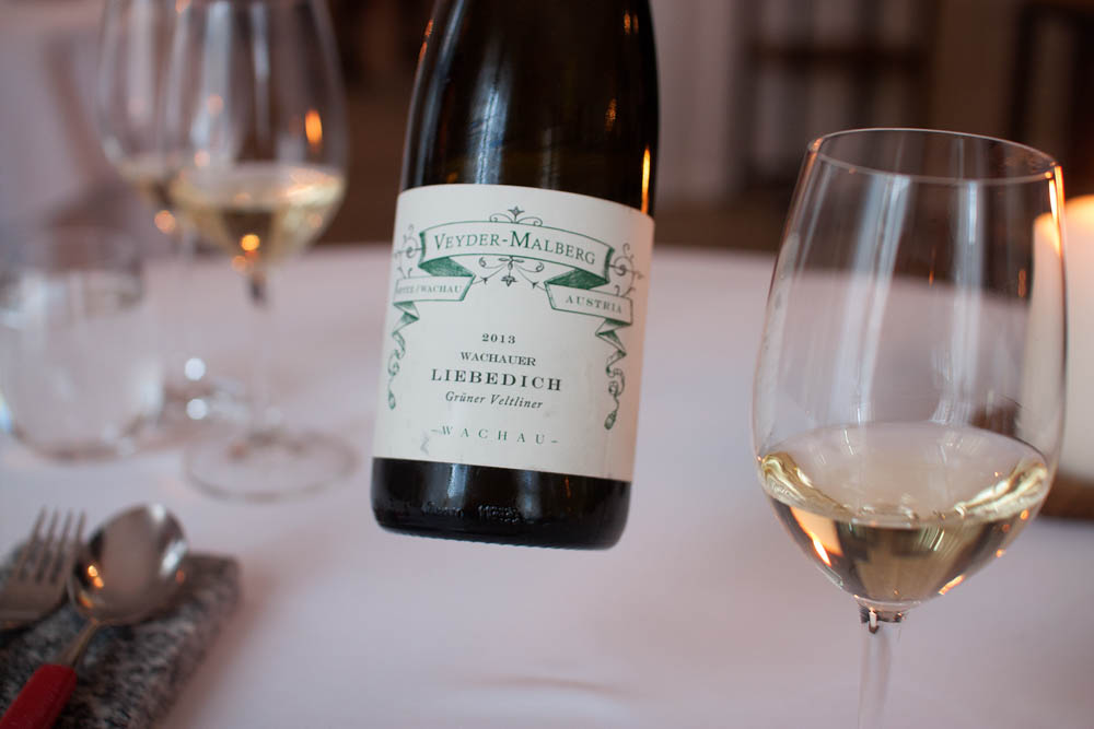 Veyder-Malberg. Liedbedich 2013. A Gründer Veltliner to match the first couple of dishes