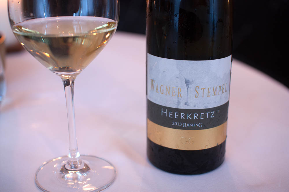 Wagner-Stempel. Heerkretz 2013. Anders was happy to finally get a Riesling