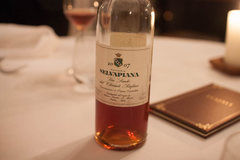 Fattoria Selvapiana. Vin Santo 2006 to match the sweetness of the desserts