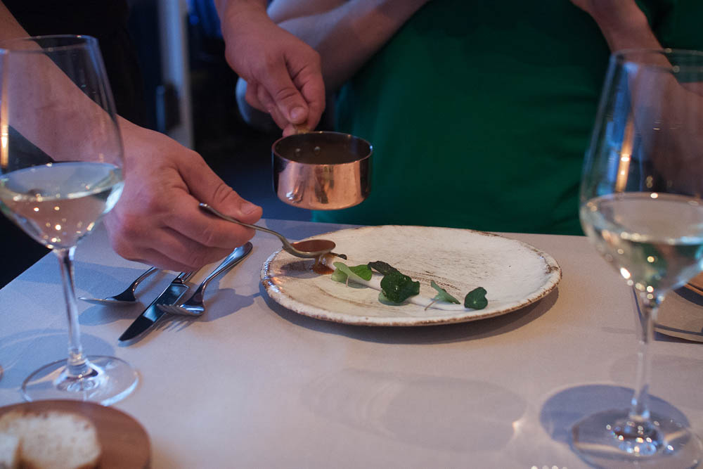 Having the final touches put on your plate at the table really increases the dining experience
