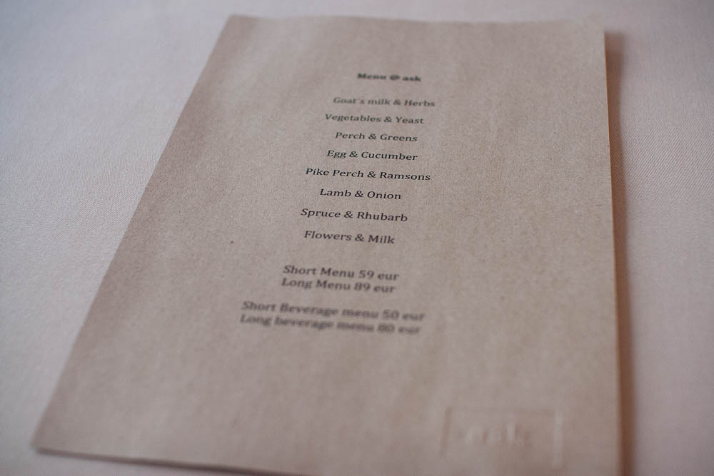 The menu looks simple enough, but hides a proper show of a meal...