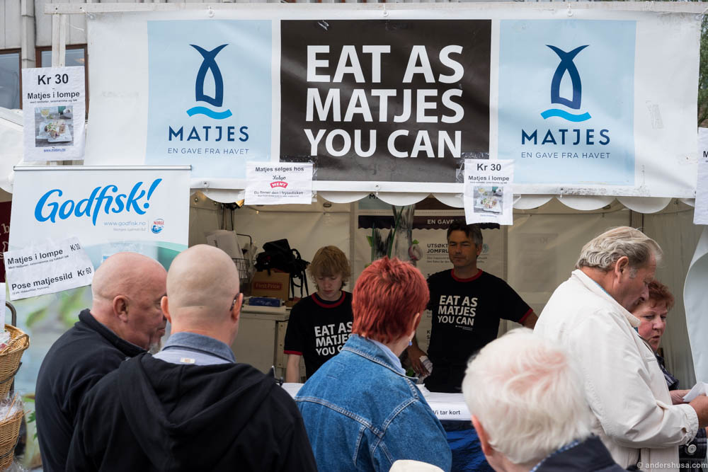 Eat As Matjes You Can! Love this slogan