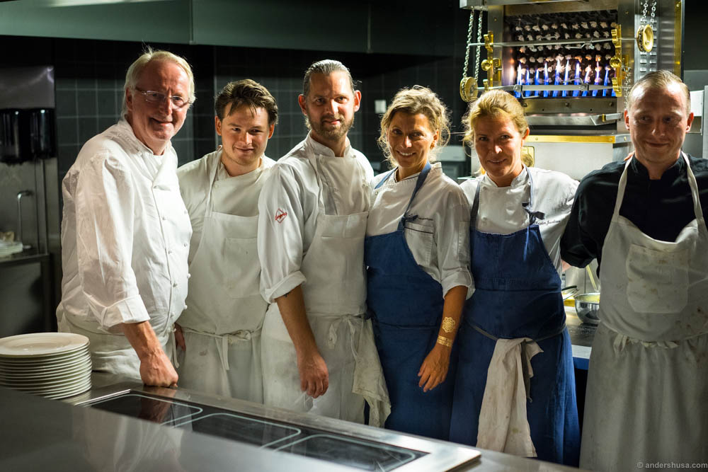 Eyvind Hellstrøm had invited a lot of his old Bagatelle chefs to cook this week