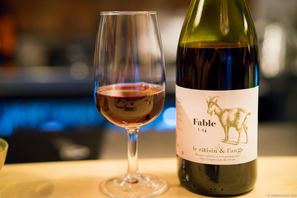 Natural wines have awesome labels. Like this Fable, Le Raisin & L'Ange. Maybe it was the label that made my friend describe the smell as exactly what is pictured. Once again a different taste, though.