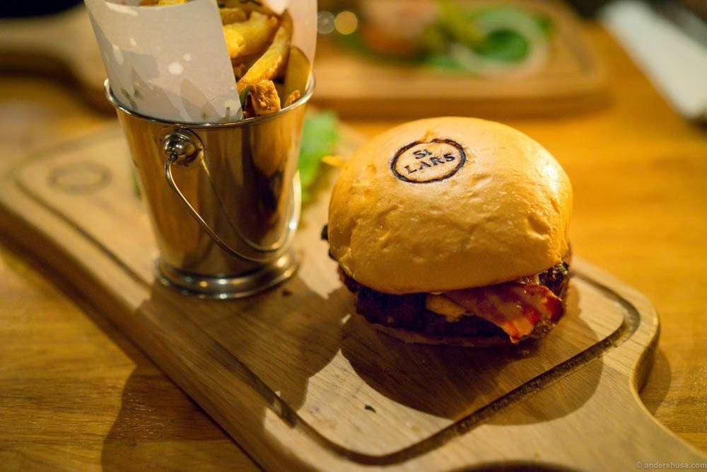 St. Lars restaurant Oslo burger perfection