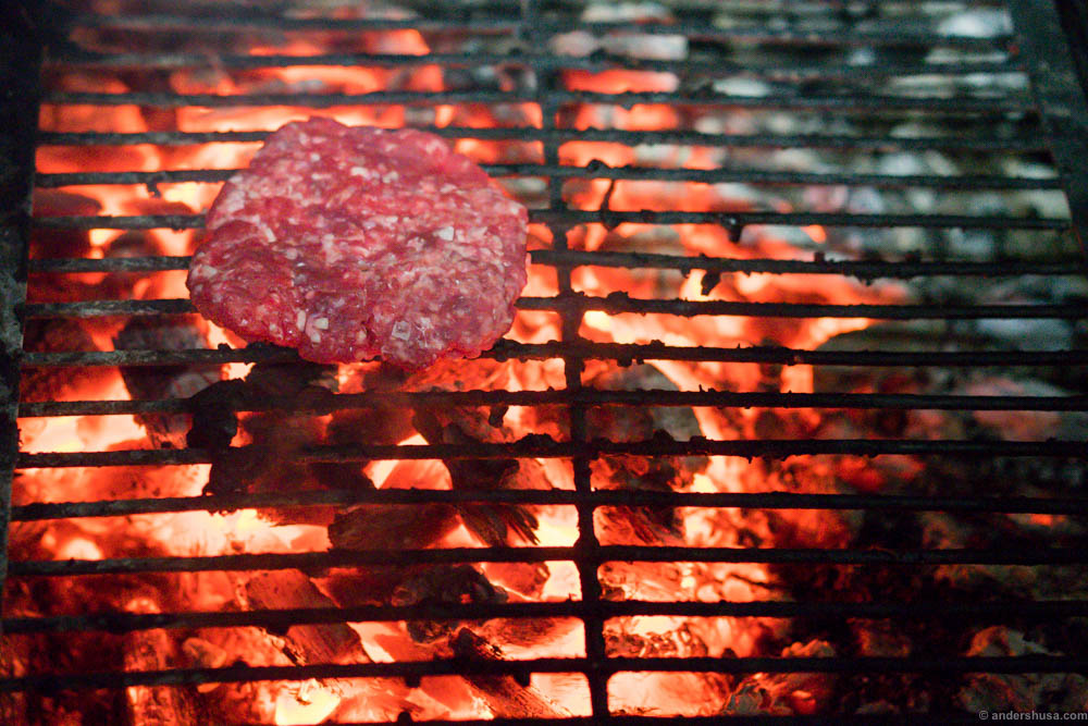 Grill it at a high temperature. This grill could reach temperatures of 6-800°C