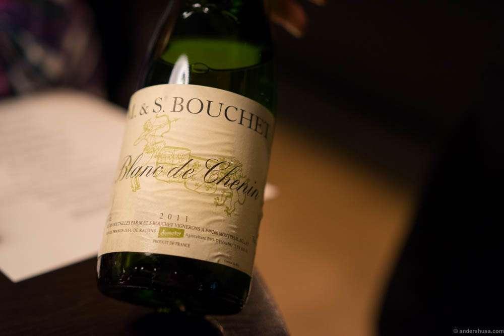 M. & S. Bouchet, Blanc de Chenin, 2011. A bit short, oxidized and tastes of calvados.