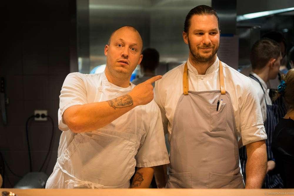 Christopher Haatuft from Lysverket in Bergen and Mikael Svensson from Kontrast