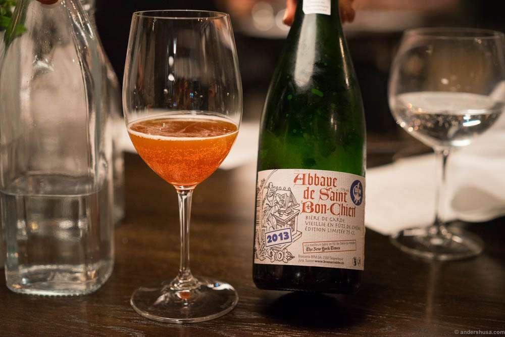 Abbaye De Saint Bon-Chien, Bière de Garde, 2013. A most wonderful sour ale, at an impressive 11%!