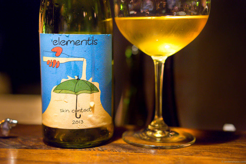 2013 Intellego 'Elementis' Skin Contact, Swartland, South Africa. A floral and fruity white wine with hints of spicy ginger