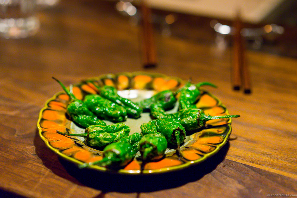 Pimientos de Padron! A classic on the Pjoltergeist snack menu