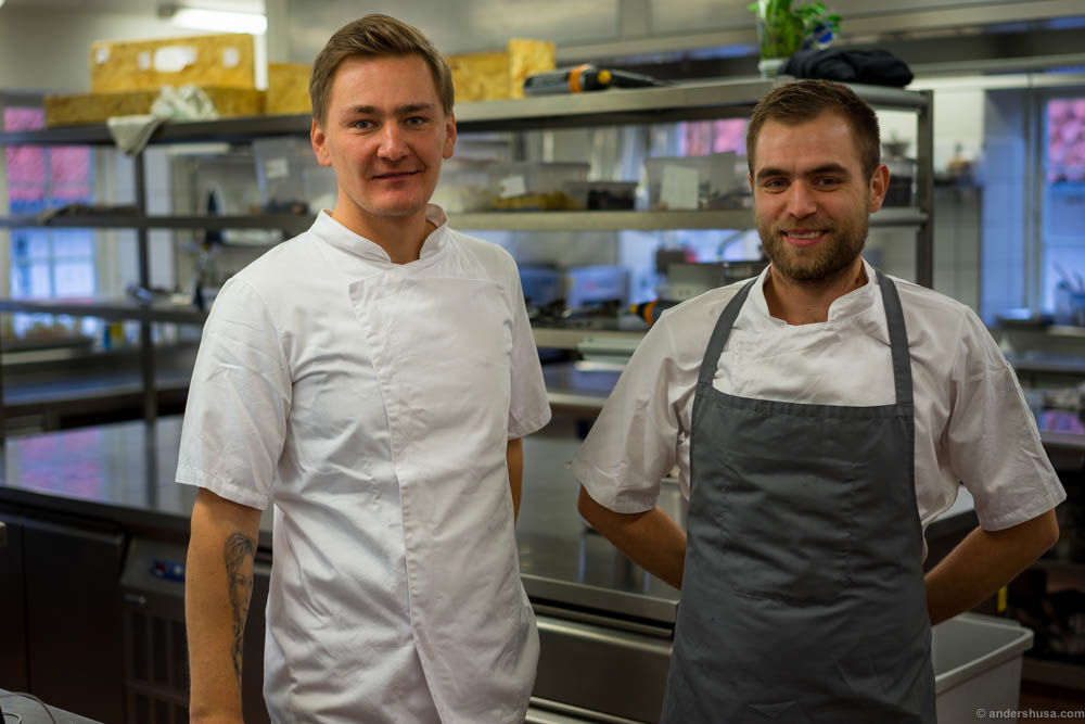 Head chef Kevin Tuuling and one of his trusted chefs