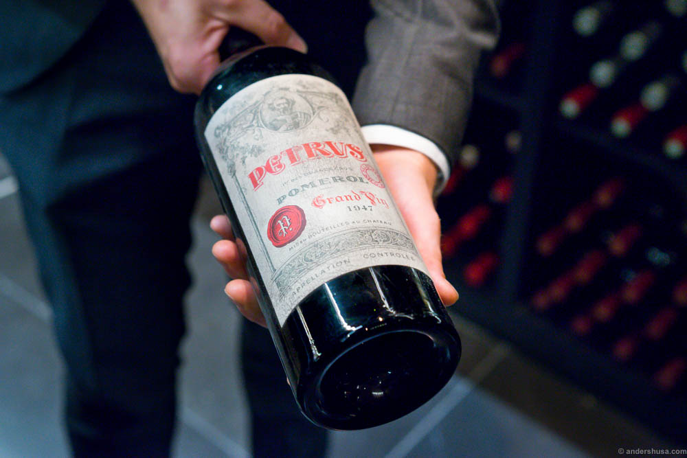 And the most expensive wine: A 1947 Petrus Magnum bottle costing 200.000 Danish kroner