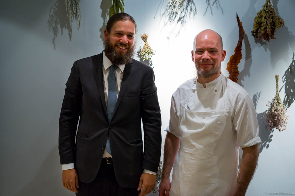 Restaurant manager Mikael Båth on the left and assistant head chef Will King-Smith
