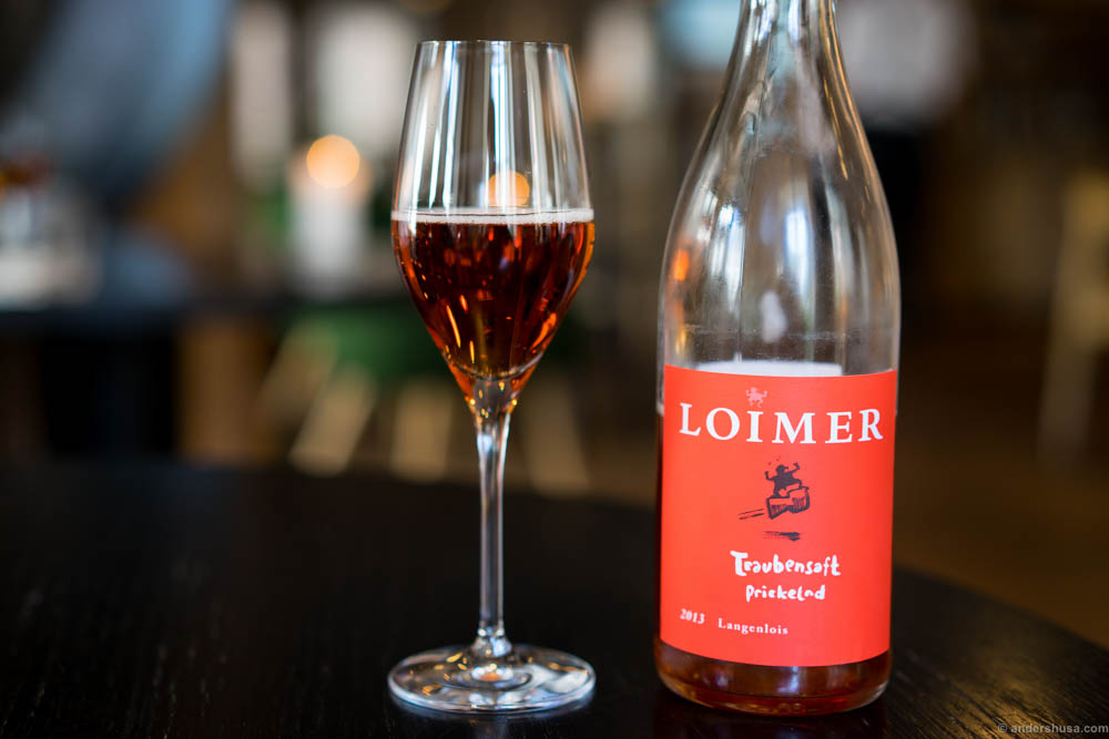 Weingut LOIMER, Traubensaft prickelnd, 2013. Medium sweet with a nice acidity
