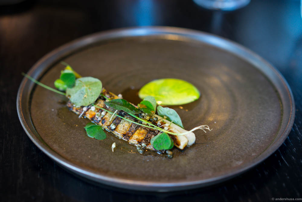I had a similar dish to this one on Bornholm, but not with mackerel