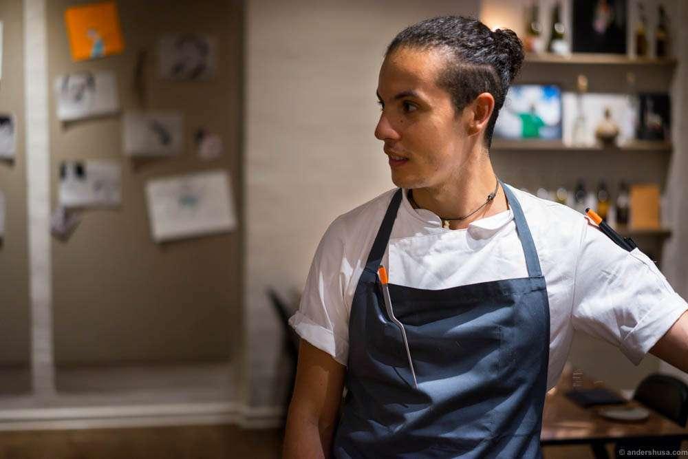 Head chef Karlos Ponte Maldonado