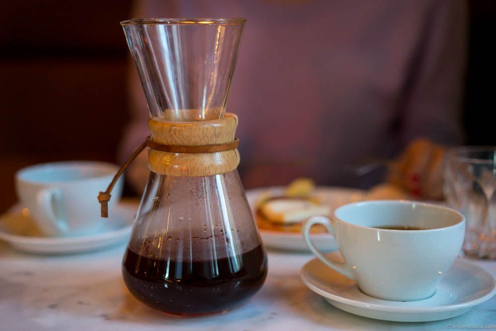 Chemex coffee from Kenya, roasted by Lippe