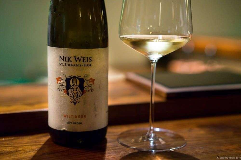 Nic Weis. Wiltinger Feinherb Alte Reben 2014