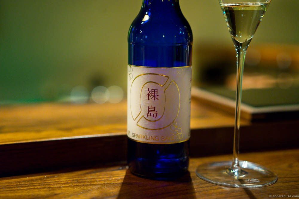 Sparkling sake from Nøgne Ø. I love this bottle, and the flavor was better than the previous sparkling sake I tasted at JIN in Paris