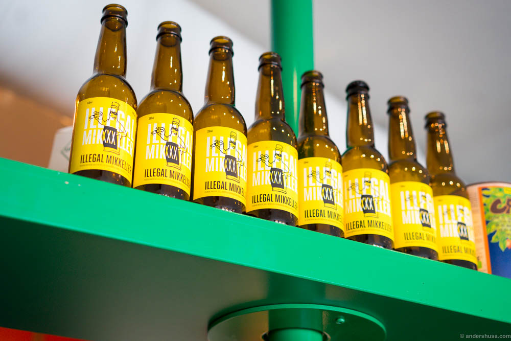 Illegal Mikkeller. The Danish brewer has made a special lager for the burger bar.