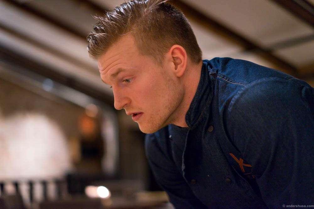 Head chef Halvor Woll Sørlie