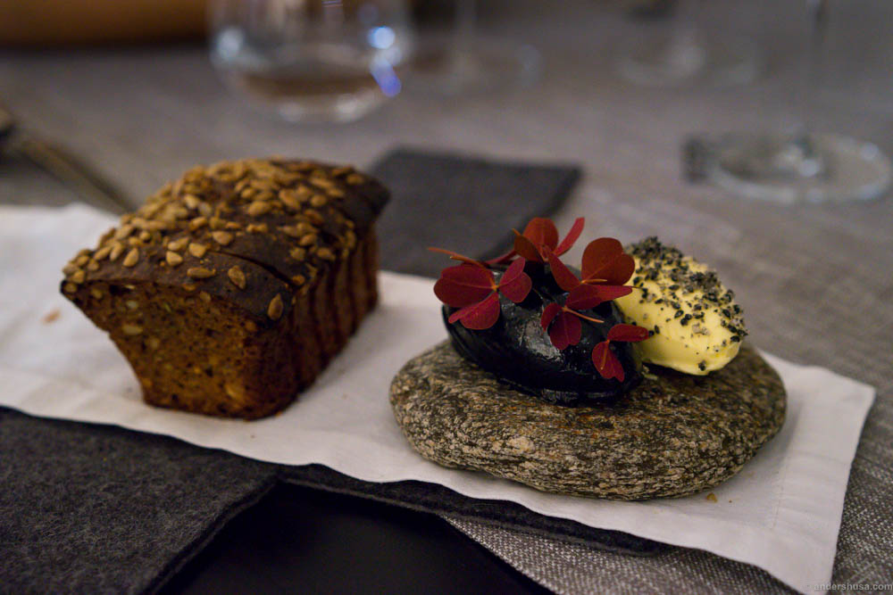 The best black bread we had in Estonia! The lemon butter was great too, and the chicken liver with red wood sorrel I could not stop eating...