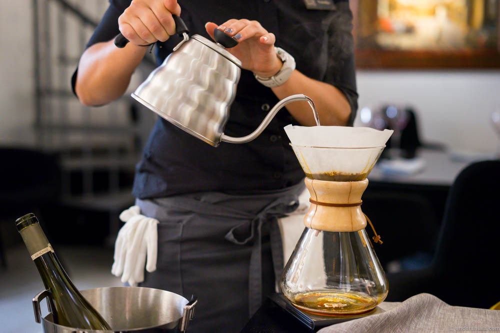 Chemex brewing even!