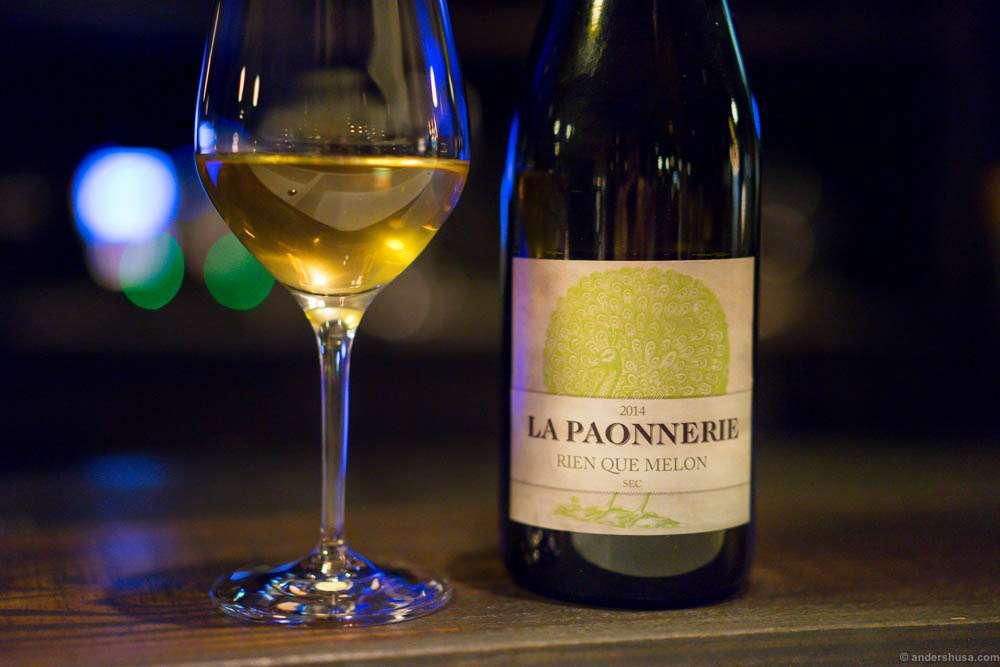2014 La Paonnerie, Rien Que Melon Sec