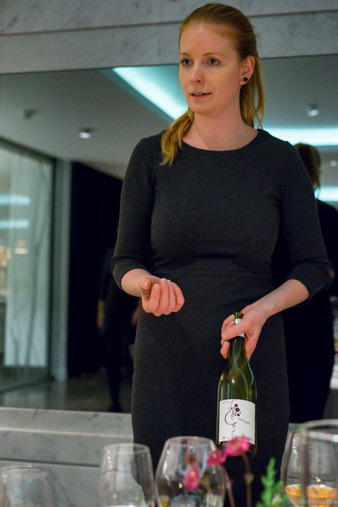 This wonderful Norwegian girl, Helle, was our sommelier and table host of the evening