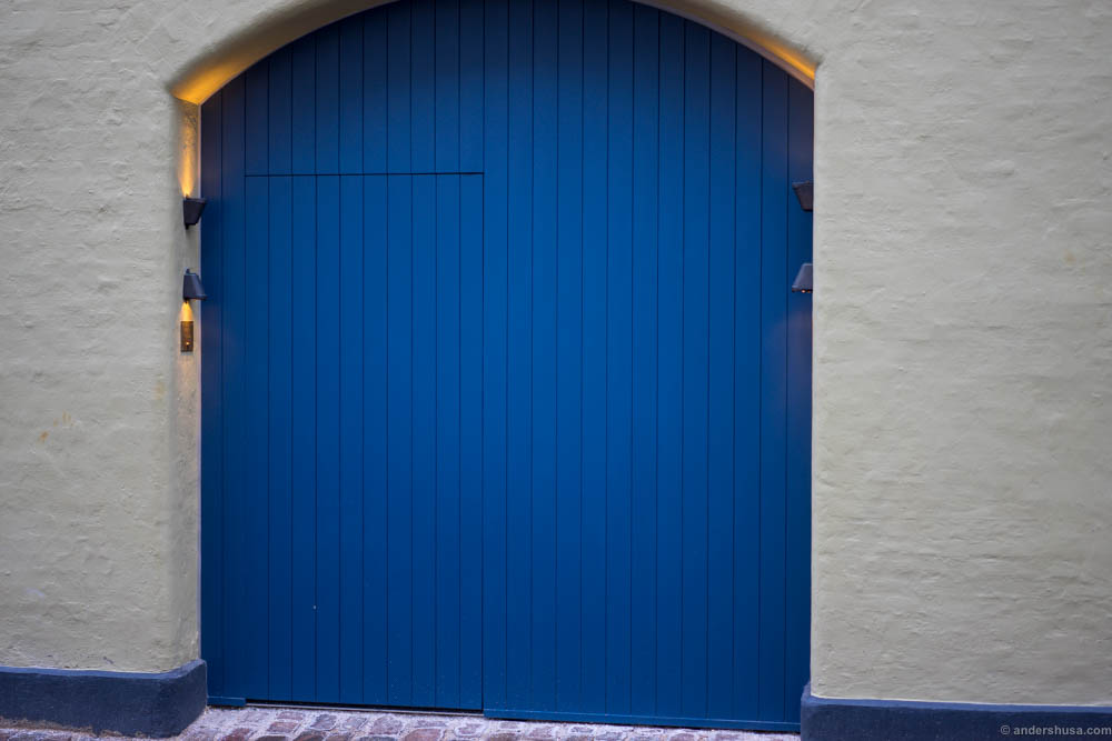 Look for the blue door