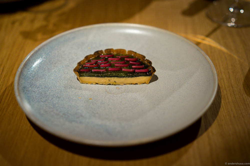 A winter edition of the tart I ate this summer at the old Kadeau