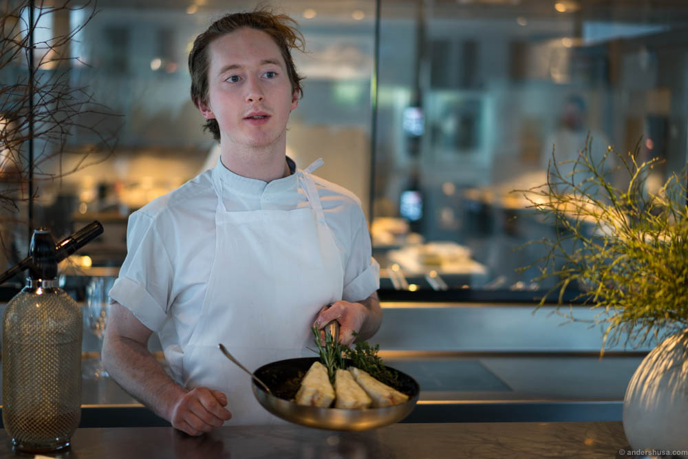 This great Irish chef came out to showcase the turbot during cooking