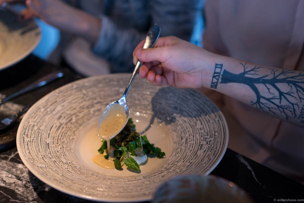 Can't complain when your food is plated by this beautiful tatooed arm