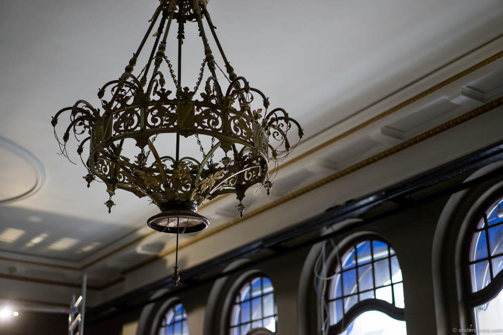 Chandeliers from another century in the roof