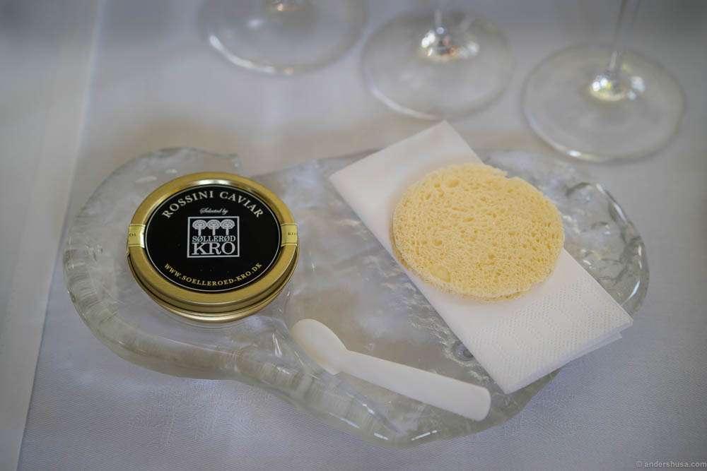 """Søllerød's signature dish """"Caviar en Surprise."""""""