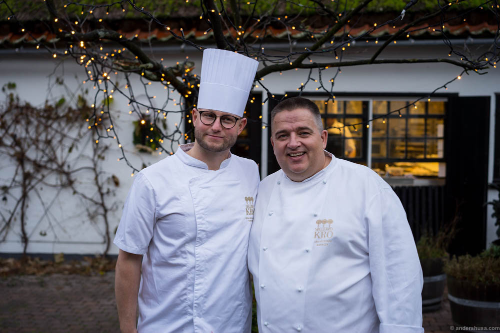 Head chef Brian Mark Hansen and restaurant manager Jan Restorff