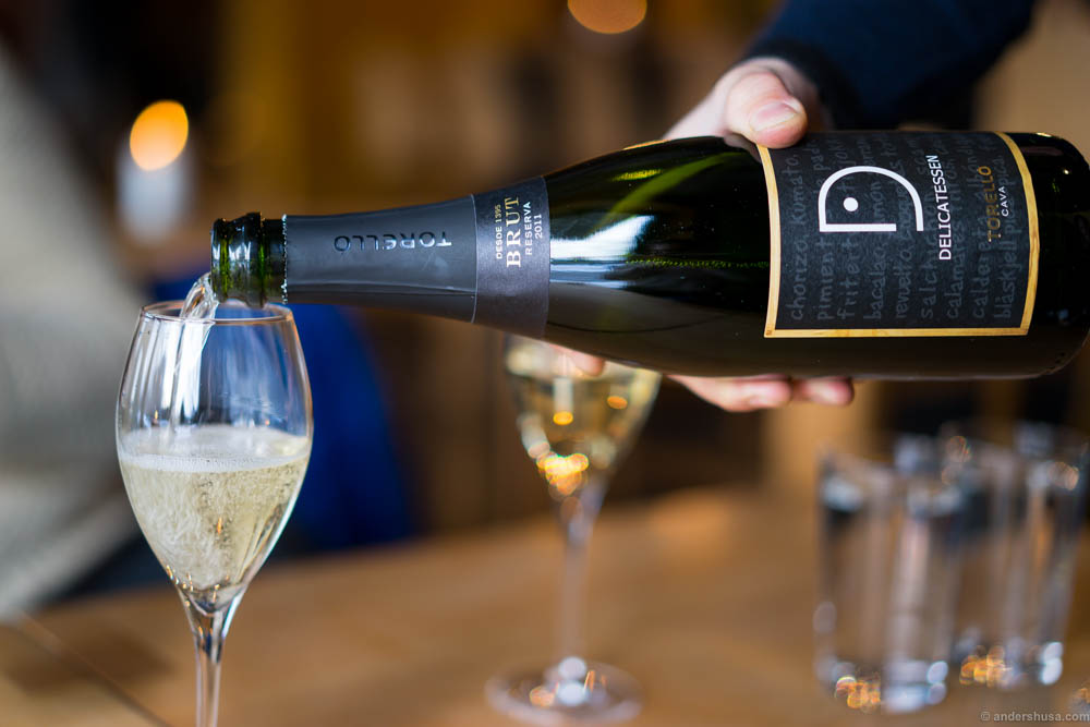 2011 Delicatessen, Torelló, Cava, Reserva Brut. This is also available at the wine monopoly