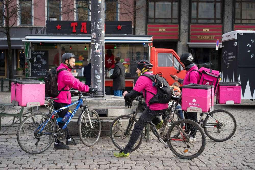 Bike Delivery Company Food