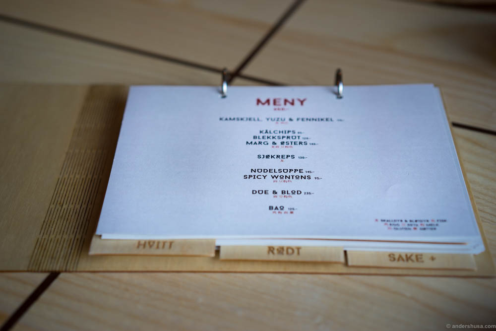 The most beatiful restaurant menu I have ever seen