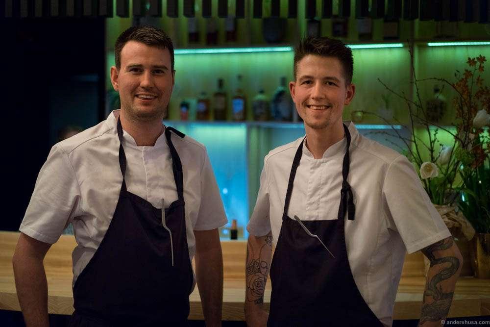 The chefs. Rune Bjørneng & Mads Kjøllmoen